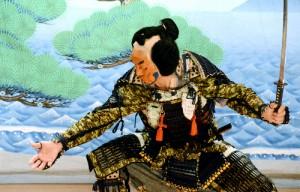 毎年3月に特別上演される福浦の歌舞伎。2015年の舞台より(朝日新聞)
